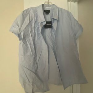 Blue Liz Claiborne Button Up